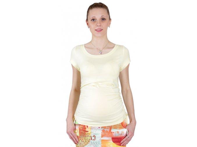 Těhotenské tričko Rialto Nonza žlutá 0065 (Dámská velikost 38)