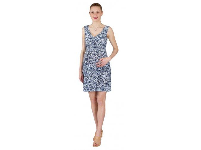 Těhotenské šaty Rialto Loker modrá batika 0256 (Dámská velikost 38)