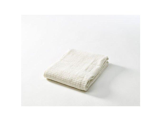 Dětská háčkovaná bavlněná deka Babydan béžová