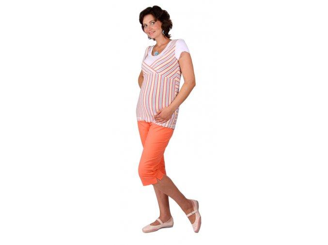 Těhotenské 3/4 kalhoty Rialto Inor korálová 1932 (Dámská velikost 36)