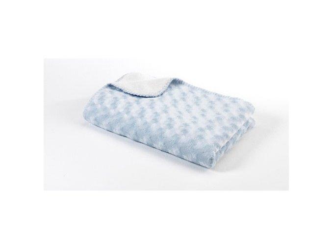 Dětská deka double fleece oboustranná 75x100 light blue