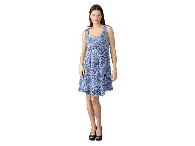 Těhotenské šaty Rialto Lacroix modrý potisk 0387 (Dámská velikost 36)