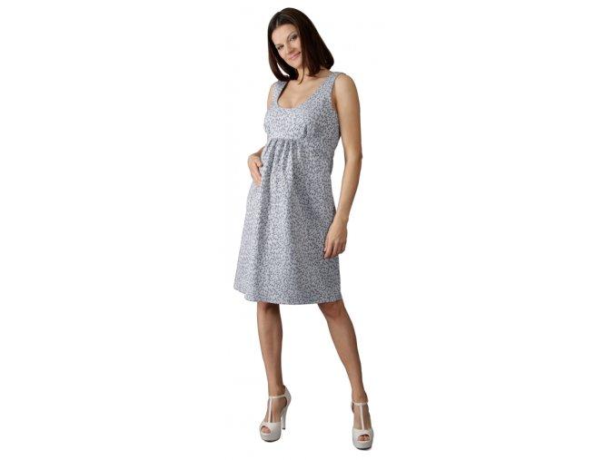 Těhotenské šaty Rialto Legis modré slzičky 0410 (Dámská velikost 36)