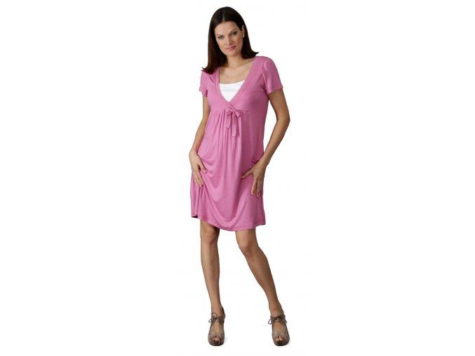 Těhotenské a kojící šaty Rialto Loison světle růžové 0360 (Dámská velikost 36)