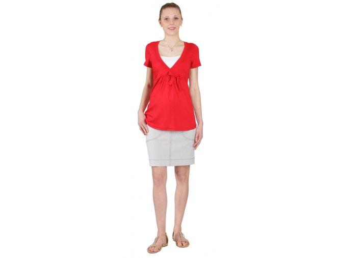 Těhotenské a kojicí tričko Rialto DIZY červené 0191 (Dámská velikost 40)