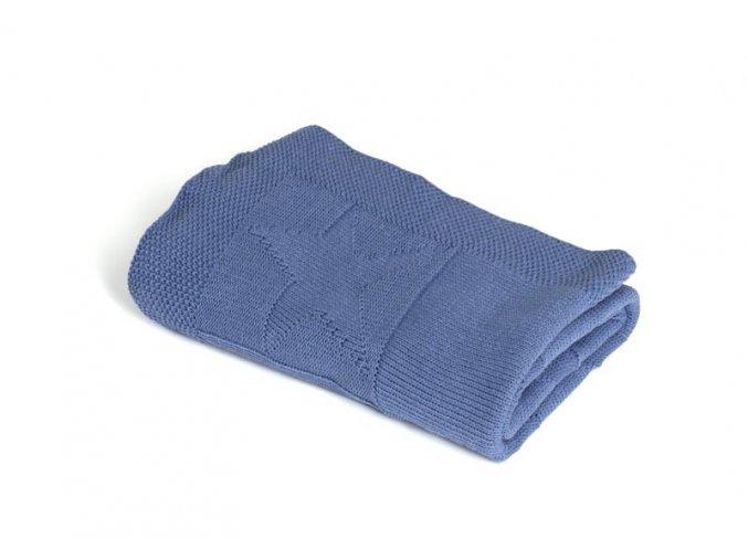 Pletená deka bavlna,modrá,hvězdy, Rialto Baby