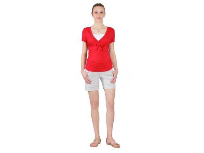 Těhotenské šortky Rialto Son šedobílý proužek 0504 (Dámská velikost 36)
