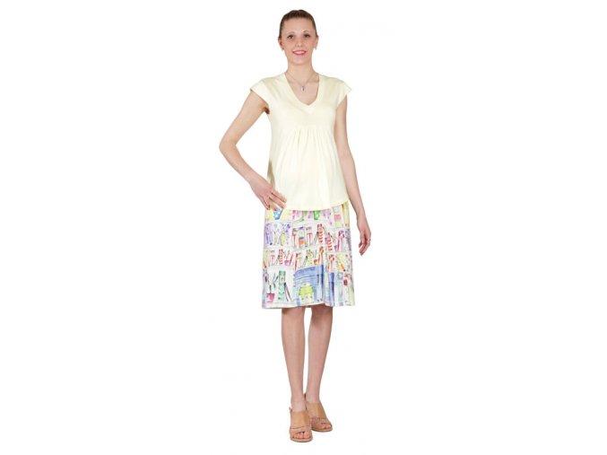 Těhotenské tričko Rialto Corrano žluté 0065 (Dámská velikost 38)