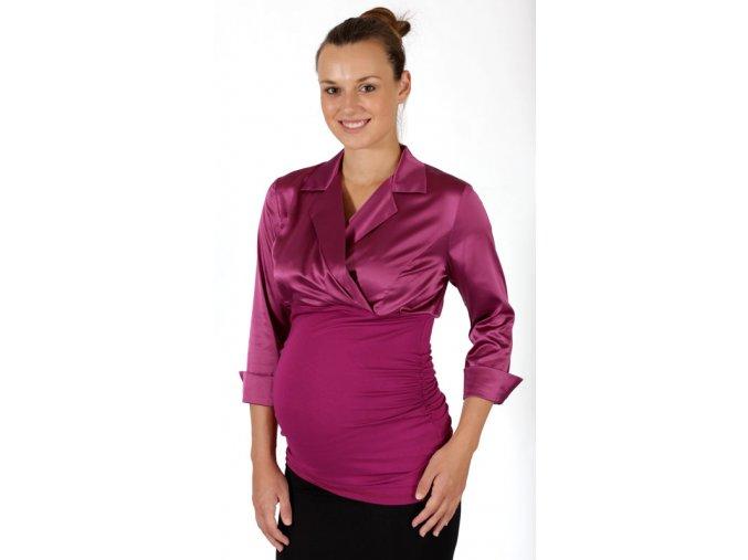 Těhotenská halenka Rialto OSS-UP fialová 0347