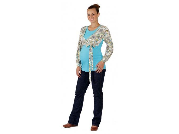 Těhotenské a kojicí tričko Rialto Dames kašmír vzor 0185 (Dámská velikost 36)
