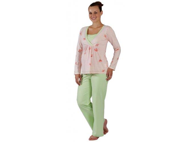 Těhotenské a kojící pyžamo Rialto Flemalle vlčí mák (Dámská velikost 36)