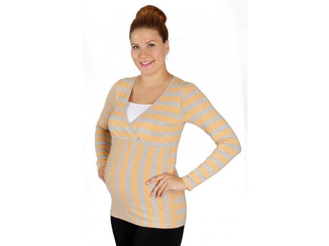 Těhotenské a kojicí tričko Rialto Devin pruhované 0277 (Dámská velikost 36)