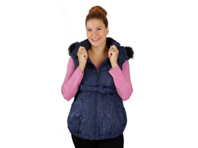 Těhotenská vesta Rialto Echt modrý Prošev 0367