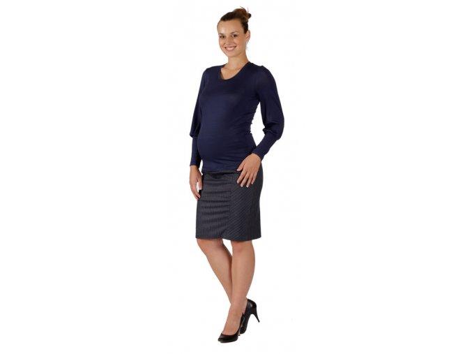 Těhotenské tričko Rialto Remon modré 0232 (Dámská velikost 36)