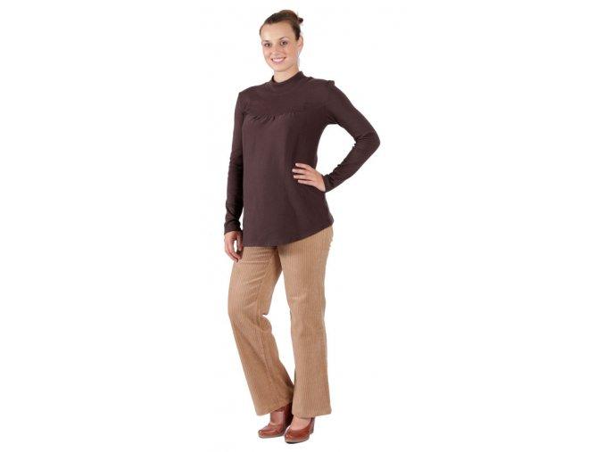Těhotenské tričko Rialto Remy hnědá 0160 (Dámská velikost 36)