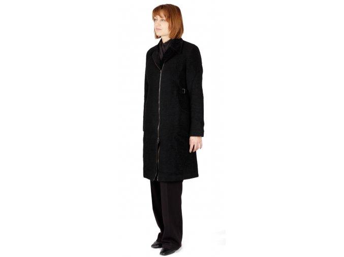 Dámský kabát Rialto Drap černý 0077