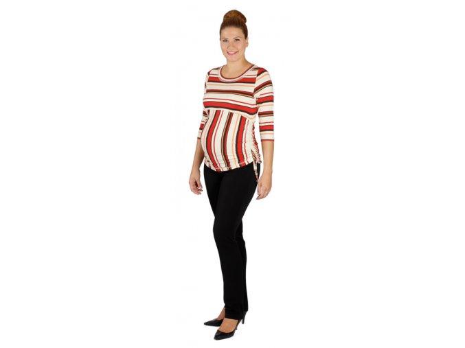 Těhotenské tričko Rialto Luskentyre béžová s pruhem 0056 (Dámská velikost 36)
