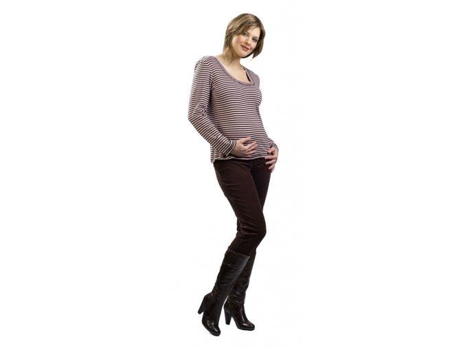 Těhotenské bavlněné tričko Rialto Rousies růžový pruh 0158 (Dámská velikost 36)