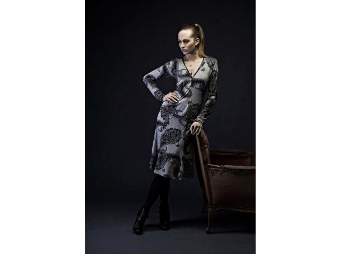 Dámská sukně Rialto Capelini šedá s tiskem 0229