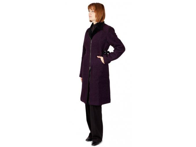 Dámský kabát Rialto Drap fialová 0086