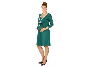 Těhotenské a kojící šaty Rialto Lovdaun zelená 0443 (Dámská velikost 40)