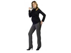 Těhotenské kalhoty Rialto  Sissone šedý melír 0090 (Dámská velikost 42)