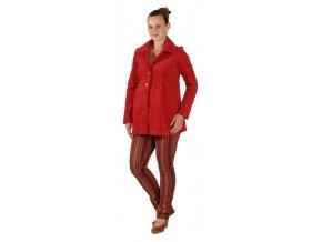 Těhotenský manžestrový kabátek Rialto Marle červená 19232