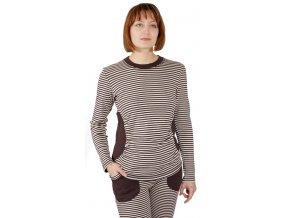 Těhotenské bavlněné tričko Rialto Rethel hnědobéžové 0159 (Dámská velikost 36)