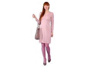 Dámské šaty Rialto FOG růžový lurex 0274