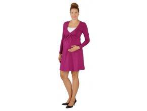 Těhotenské a kojící šaty Rialto Lovende fialové 0424 (Dámská velikost 36)