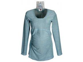 Těhotenské tričko Rialto GARYNAHINE modrý melír 00333 (Dámská velikost 36)
