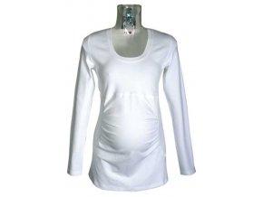 Těhotenské tričko Rialto GARYNAHINE bílá 0098 (Dámská velikost 44)