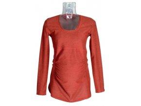 Těhotenské tričko Rialto GARYNAHINE červený melír 00332 (Dámská velikost 44)