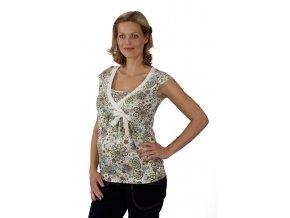 Těhotenské a kojicí tričko Rialto Dery kašmírový vzor 0185 (Dámská velikost 36)
