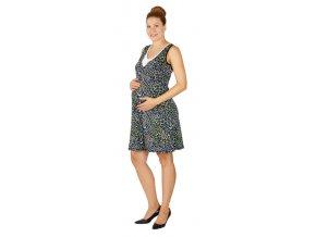 Těhotenské a kojící šaty Rialto Laarne zvířecí motiv 0383 (Dámská velikost 40)