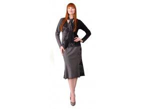 Dámská sukně Rialto CAPELINI šedá bordura 0292