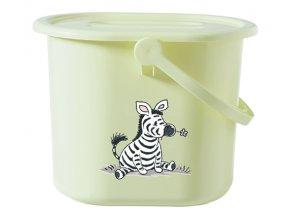 Kyblík na pleny s víkem Bébé-Jou Dinky Zebra