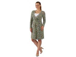 Těhotenské a kojící šaty Rialto Lovende tyrkysový puntík 0258 (Dámská velikost 36)