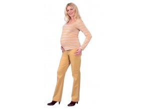 Těhotenské tričko Rialto Ruten žluté pruhy 0277 (Dámská velikost 38)