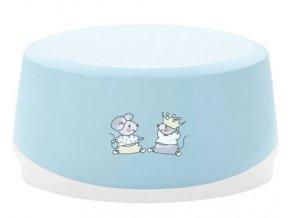 Dětské protiskluzové stupátko ovál Bébé-Jou Little Mice světle modrá