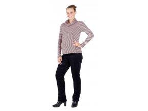 Těhotenské tričko Rialto Greagorry růžovohnědý vzor 0158 (Dámská velikost 36)