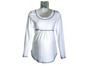 Těhotenské tričko Rialto Borvemore bílá 0103 (Dámská velikost 42)