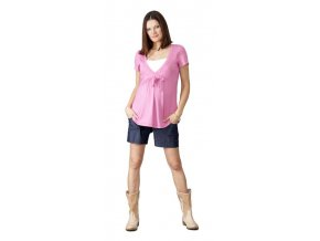 Těhotenské a kojicí tričko Rialto DIZY Sv.růžová 0360 (Dámská velikost 34)