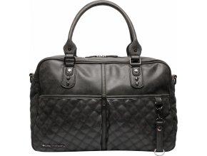 Přebalovací taška Berlin Quilted black prošívaná