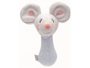 Plyšové štěrchátko Bébé-Jou myška Little Mice  Rozbaleno z výstavy