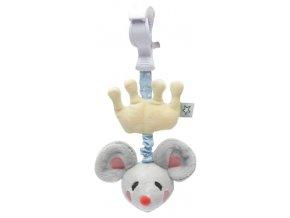 Plyšová natahovací myška Bébé-Jou Little Mice