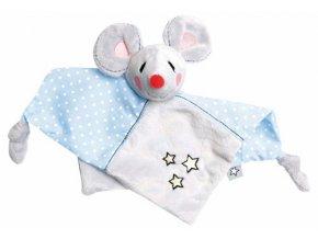 Plyšový mazlící ubrousek Bébé-Jou myška Little Mice