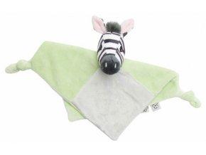 Plyšový mazlící ubrousek Bébé-Jou Dinky Zebra