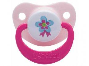 Dudlík-silikon 6+M Bébé-Jou ABC sv. růžový, duopack