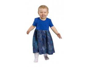 Dětské šaty Rialto UNNA - modrá výšivka 0406